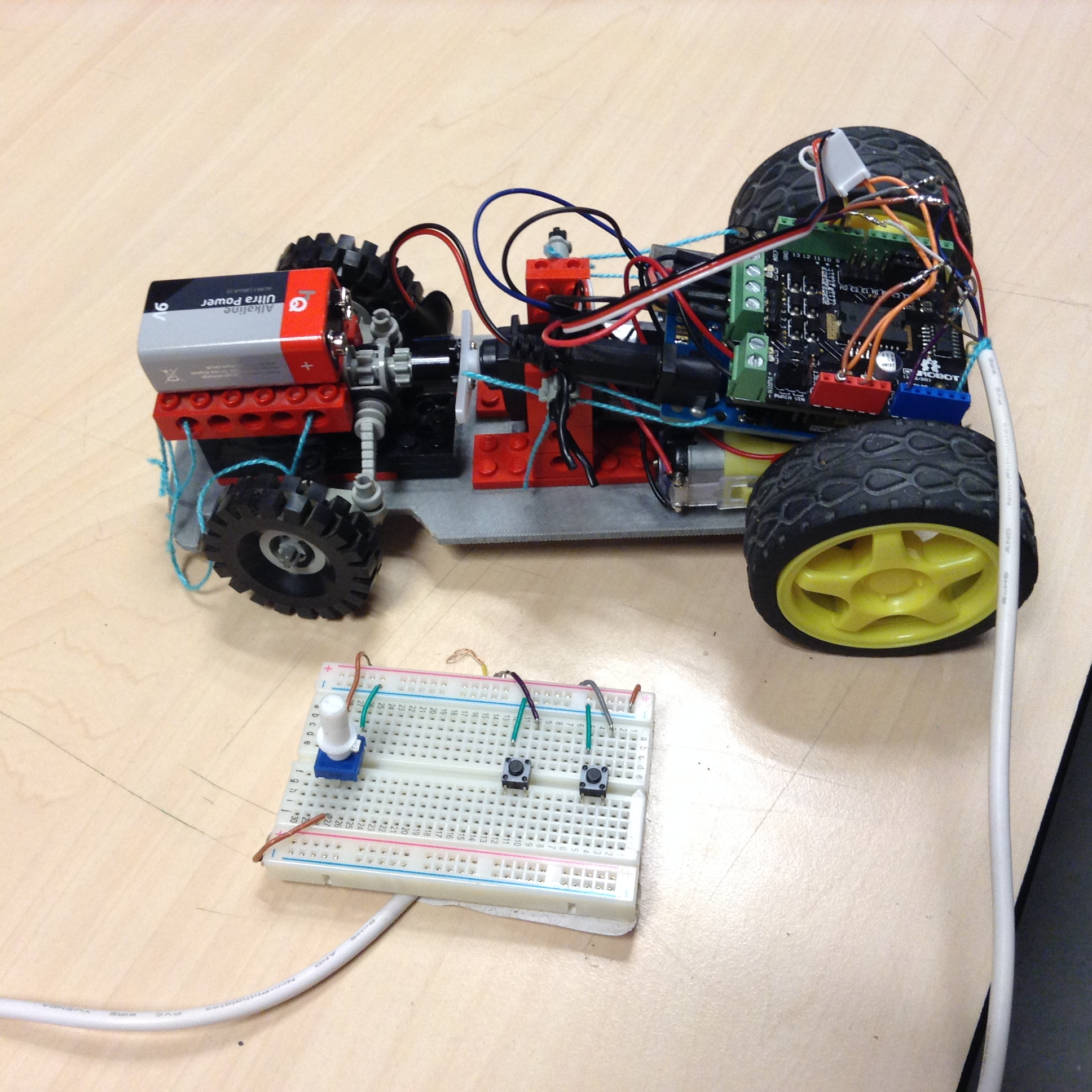 Picture of Wired Contollable Ardiuno Car
