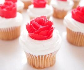 Valentine's Day Mini Rose Cupcakes