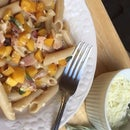 Gluten Free Rigate with Roasted Butternut Squash and Smoked Bacon