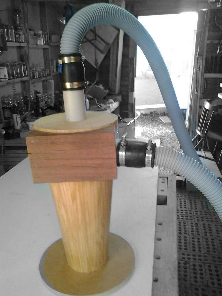Picture of Wooden, Cyclone Seperator Shop Vac