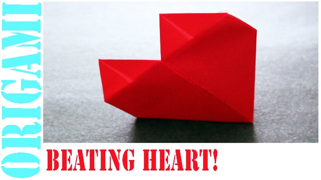 How To Make An Origami Valentines Day Beating Heart