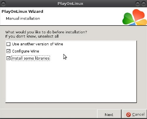 Picture of Configuration the Wine and the PlayOnLinux
