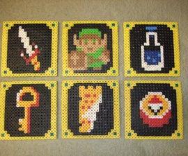 Legend of Zelda Beverage Coasters (Pearler Beads)