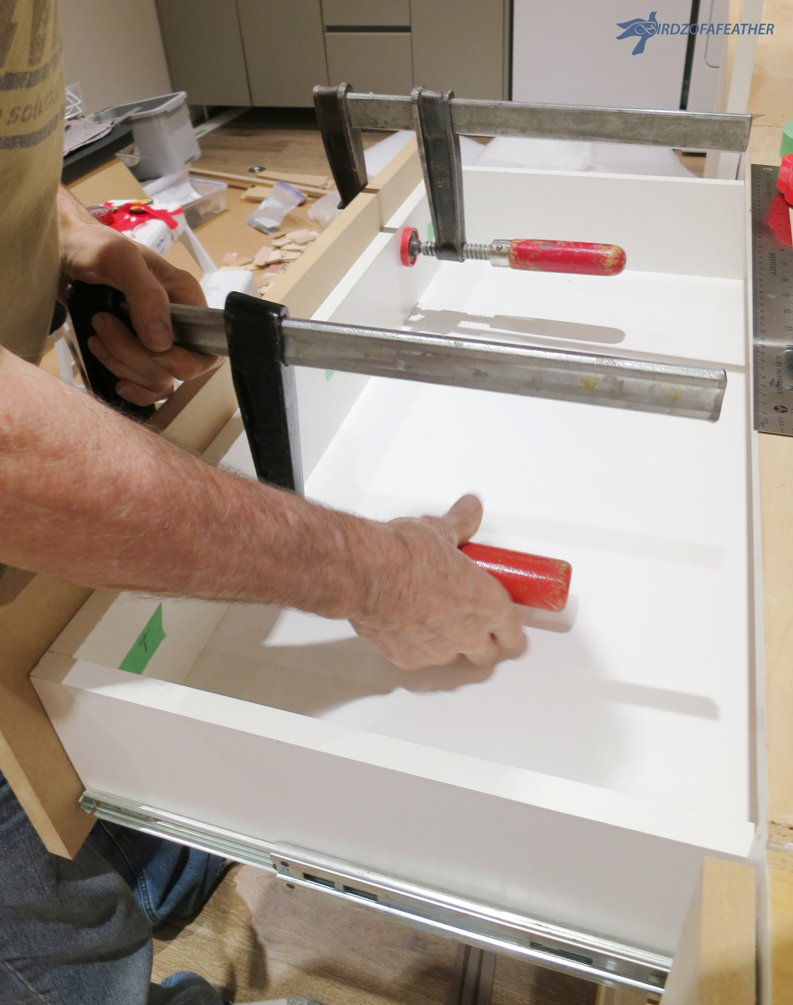 Picture of Secure the Drawer Faces