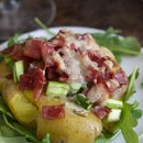 Smashed Potatoes With Uncured Bacon