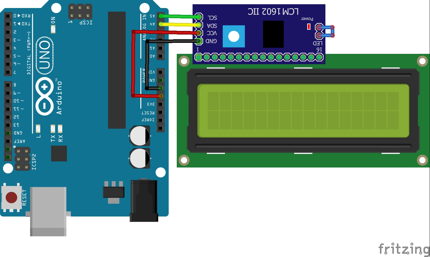 Picture of Connecting the L.C.D. Display to Microcontroller