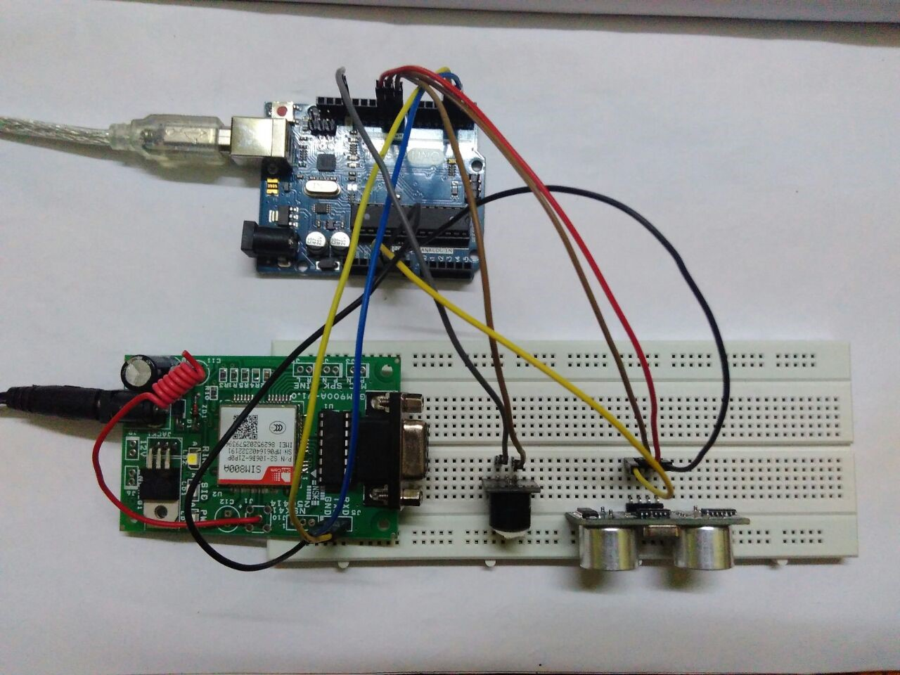 Picture of Security System Using Ultrasonic Sensor and Gsm Module