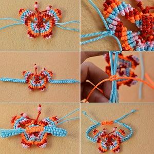 Finish the Braided Butterfly Bracelet