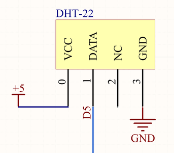 Connecting the DHT-22