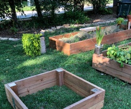 Raised Garden Bed Made of Wood