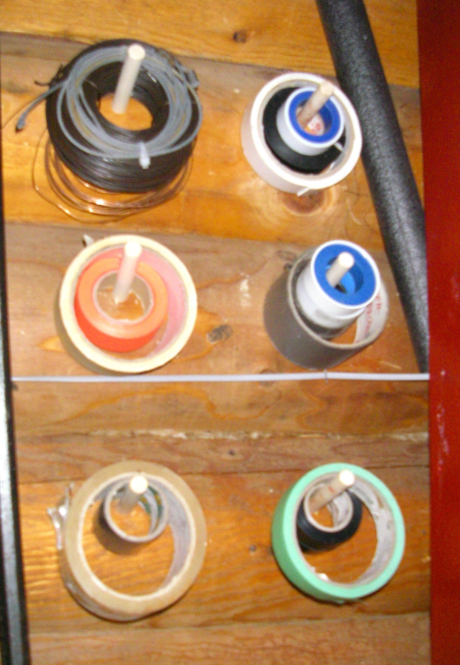 Picture of Foam Paint Brush Dowel Tool Hangers