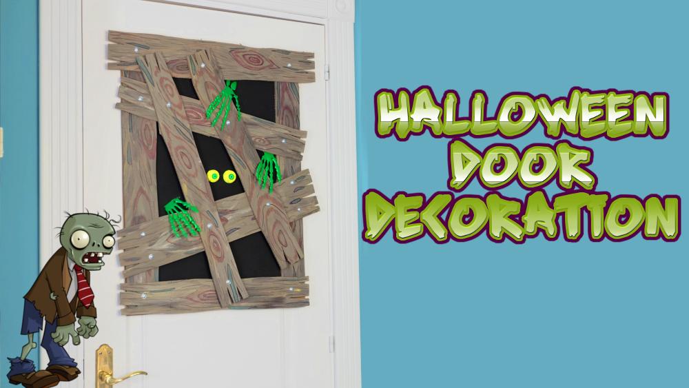 Picture of Halloween Door Decoration. Zombie Attack!