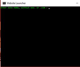 Batch Website Launcher