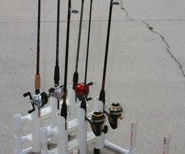 PVC Modular Fishing Rod Holder