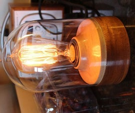 Edison Lamp in a Bell Jar