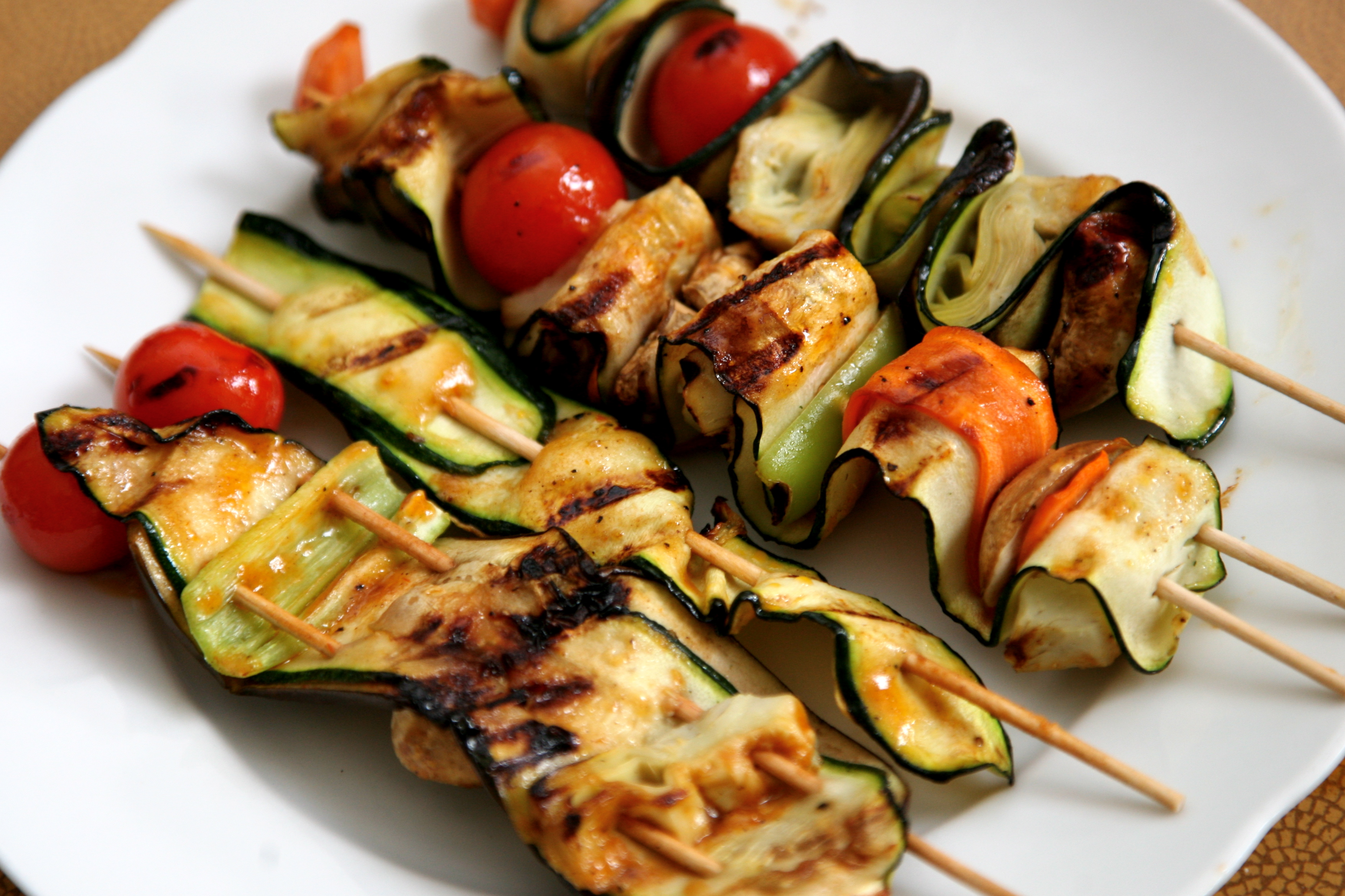 Picture of Skewered Undulated Vegetables