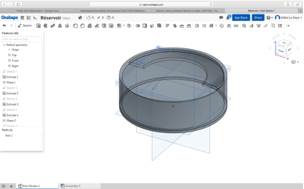 Picture of 3D Modeling of the Base on Onshape