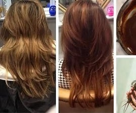 DIY Natural Hair Dye Color for Instant Dark Brown Hair !!