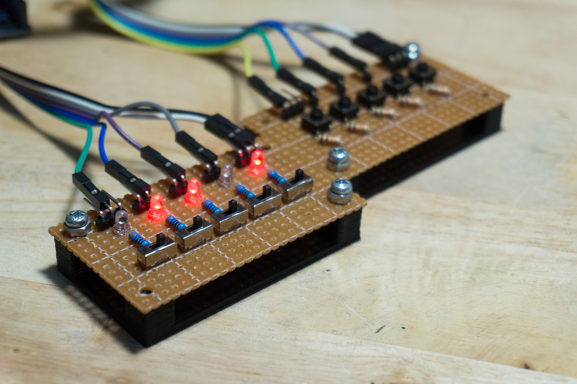 Picture of LED and Switch Modules for Prototyping Arduino Projects