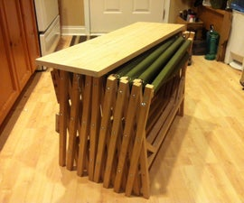 Folding Bed Bench (Hidden Cot)