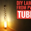 DIY PVC Pipe Lamp. With RGB and Bluetooth Speaker