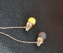"Build an ""Aladdin's Lamp"", Gold Plated Copper In-ear Earphone/Headphone"