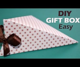 DIY Gift Box - How to Make EASY Triangle Paper Box