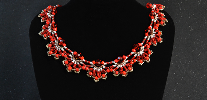 Picture of Here Is the Finished Seed Bead Choker Necklace: