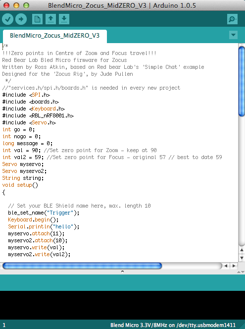 Picture of SECTION F: Arduino Code for Blend Micro