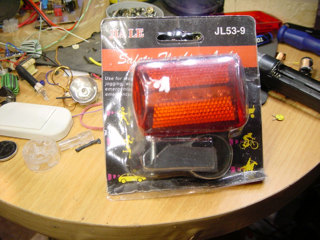 Picture of Joule Thief Bicycle Light (back)