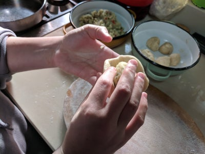 Combining the Aloo With the Paranta
