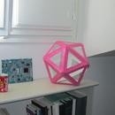 Popsicle Stick Coloured Icosahedron