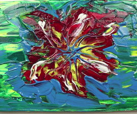 Red Flower   Abstract Painting Demonstration