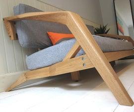 Sculpted Oak Sofa