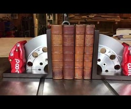 Bookends From Reclaimed Brake Parts