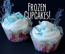 Frozen Icicle Candy Cupcakes!