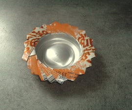 An ashtray in can