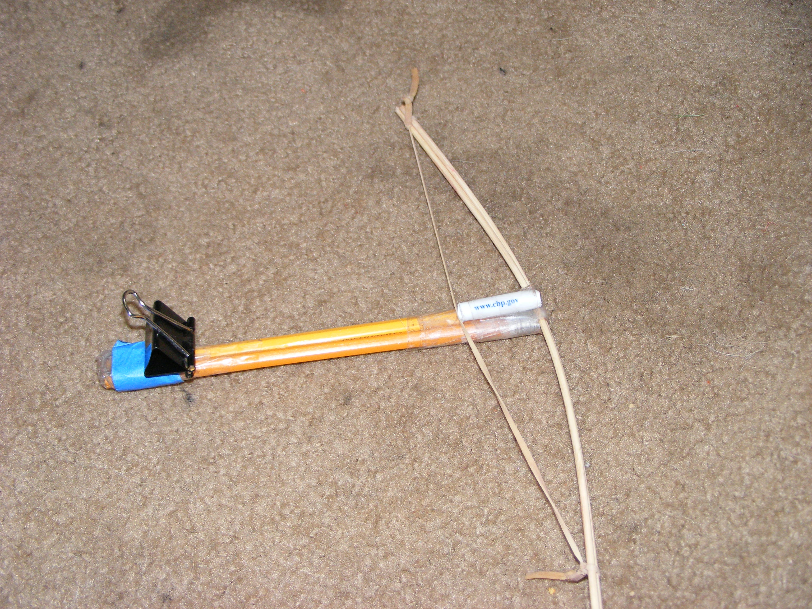 How to make a crossbow at home. We make a mini-crossbow, crossbow of pencils and paper from their own hands 94