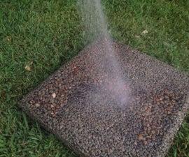 Non-Slip Pervious Concrete Stepping Stone