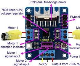 L298N Motor Driver Controller Board