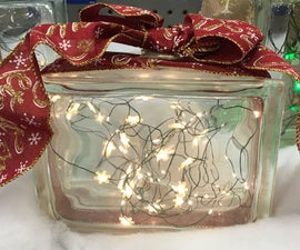 Illuminated Glass Block Present