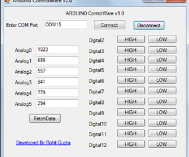 Arduino ControlWare-Perform Tasks without reprogramming the Arduino