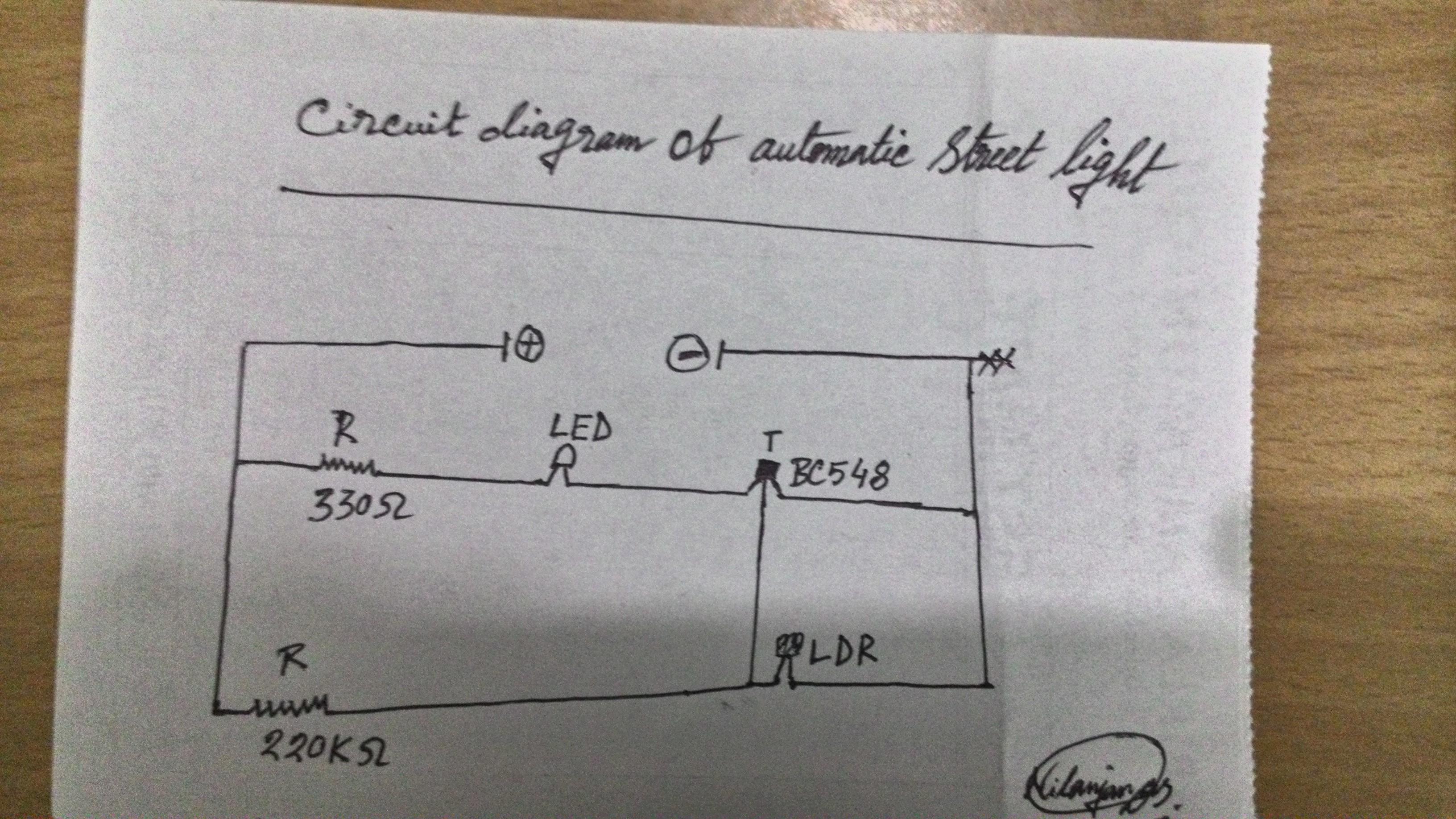 Making Automatic Street Light: 3 Steps