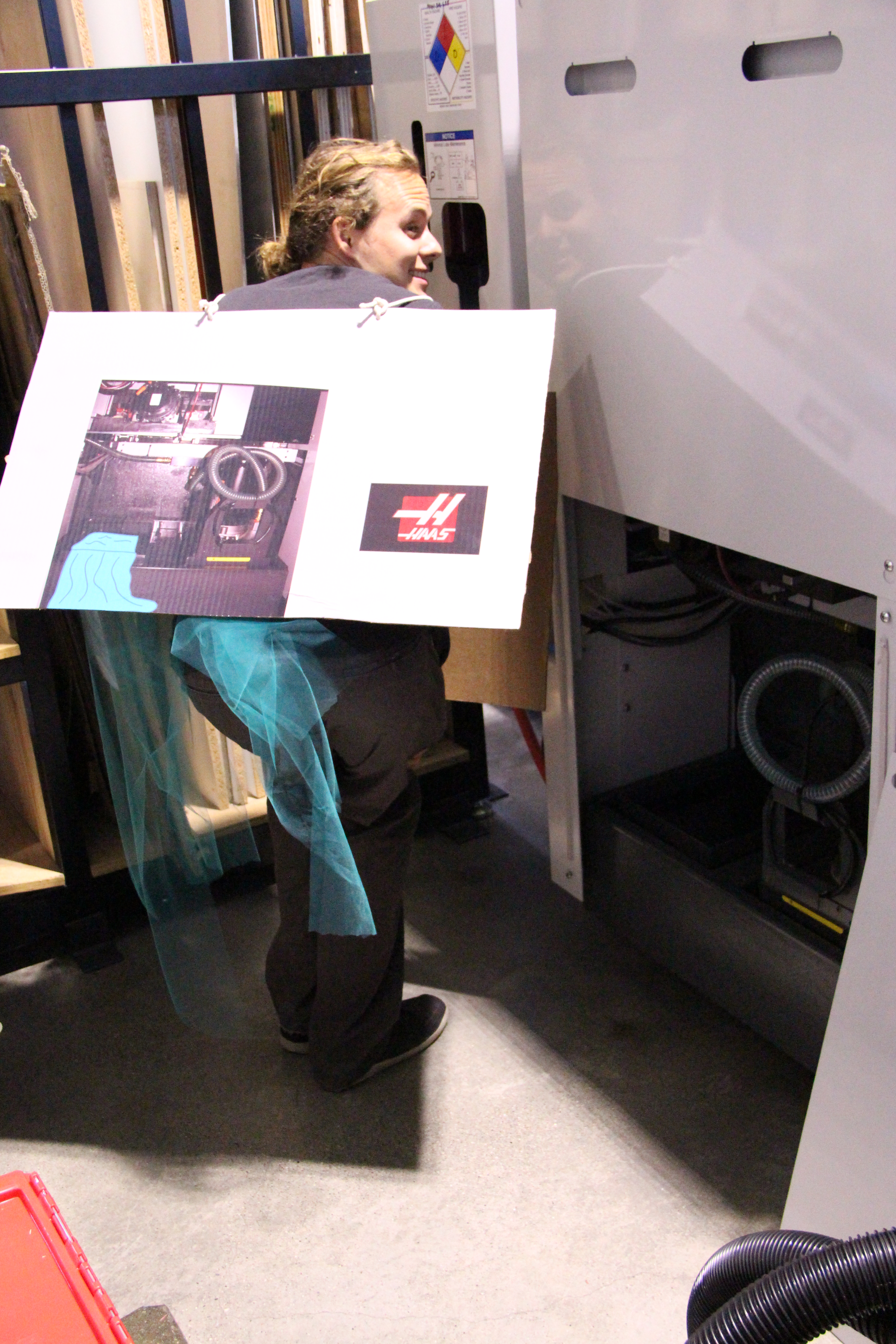 Picture of HASS CNC Lathe Costume, With Coolant Spill!