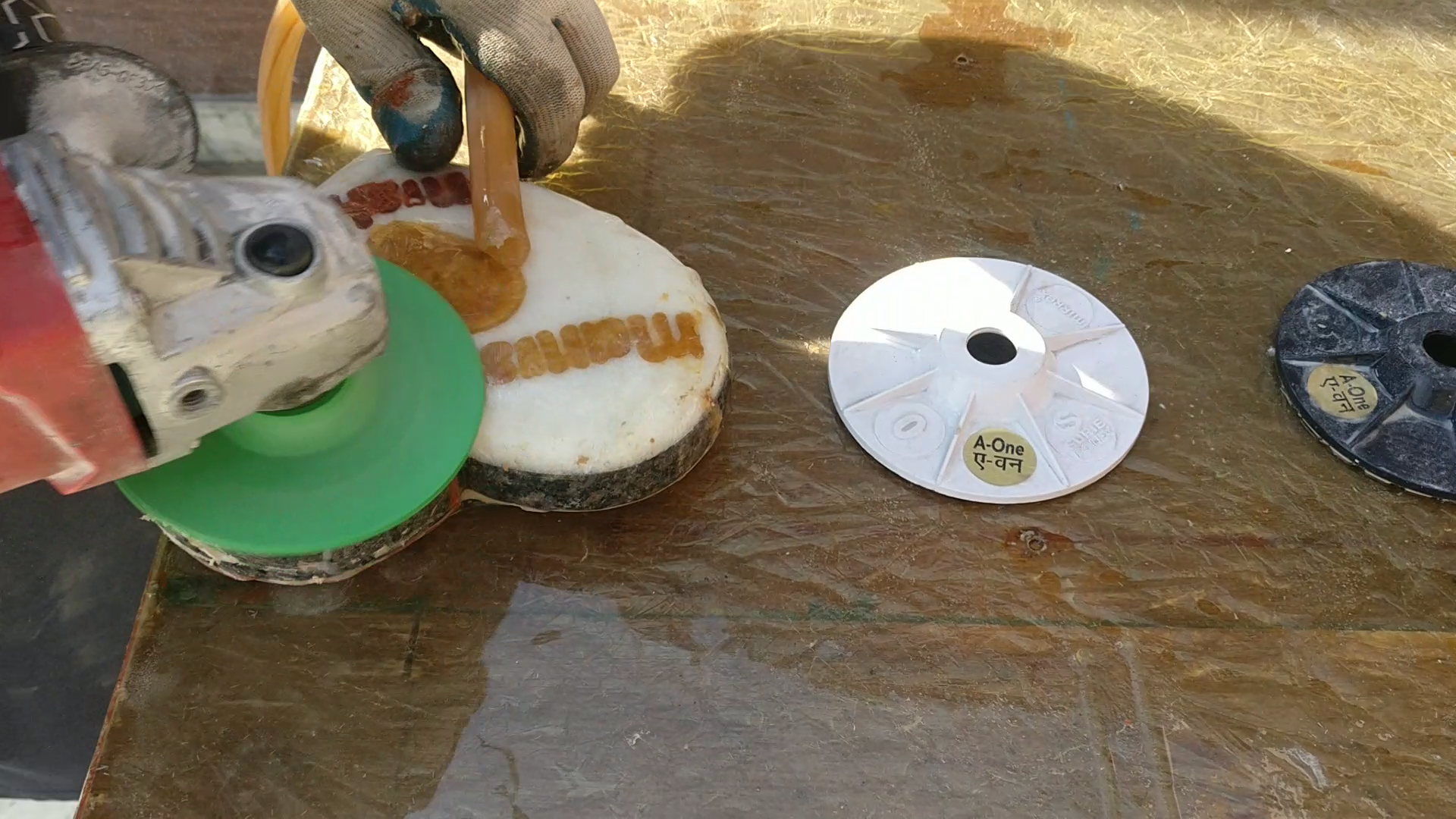 Picture of Sanding of Cavity Filled Resin