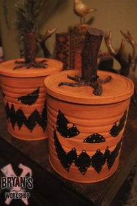 Halloween Coffee Can Luminaries!