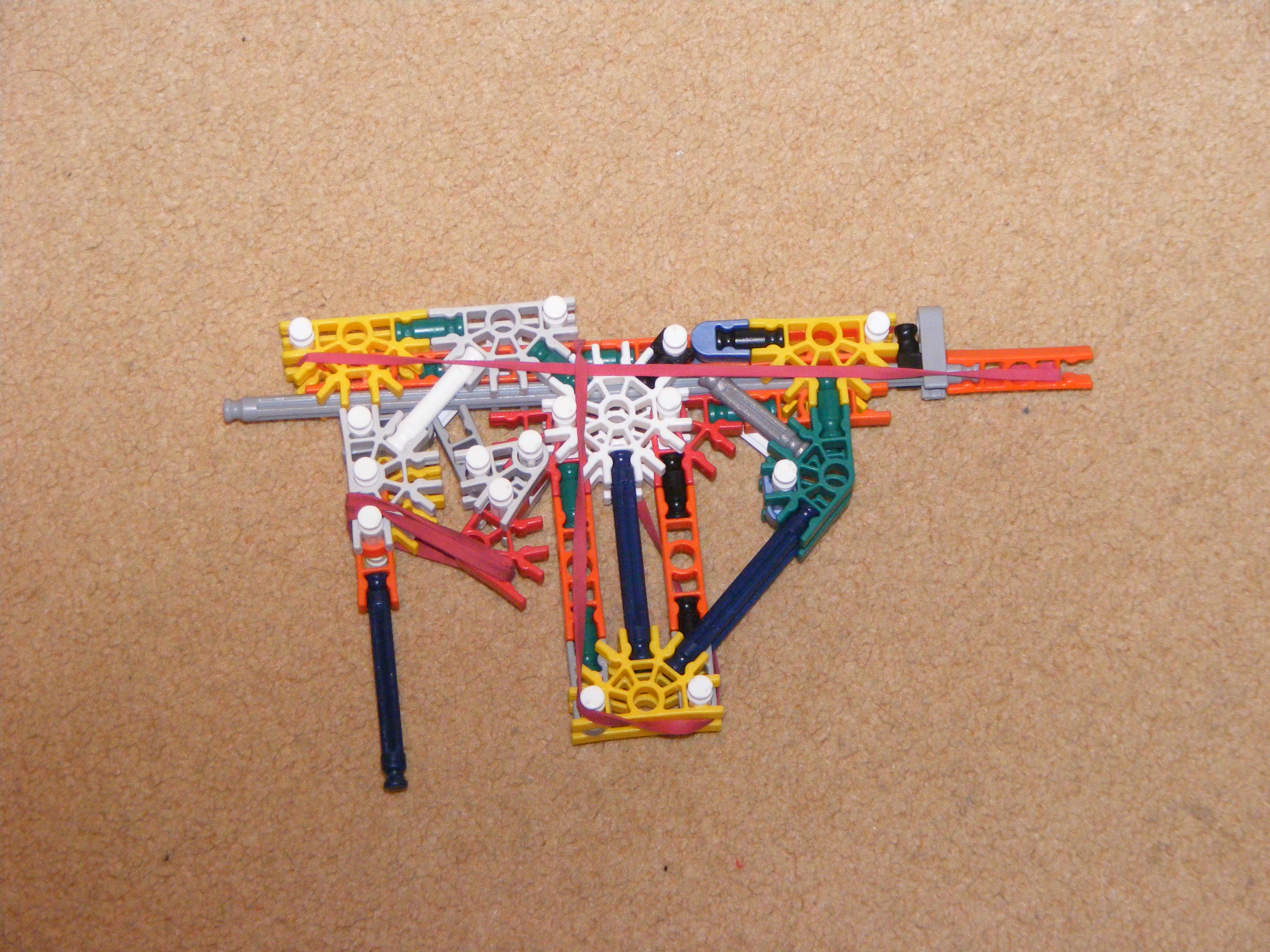 Picture of K'nex Gun With Mag, True Trigger and Sight Base.