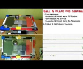 Ball and Plate Arduino PID Control