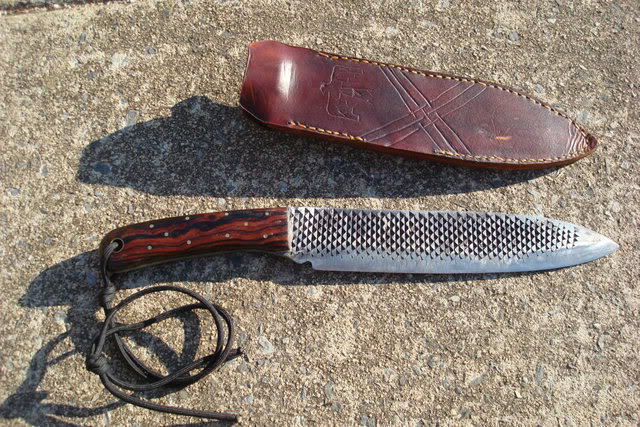 Picture of Large Camp Knife Made From Rasp