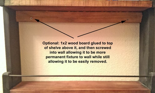Optional: Fasten Bottom to Wall